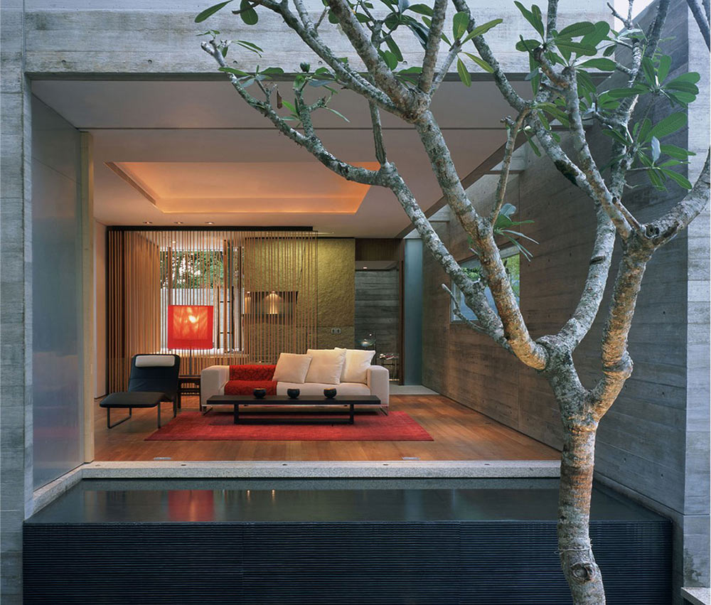 Water Feature, Sunset Vale House, Singapore by WOW Architects