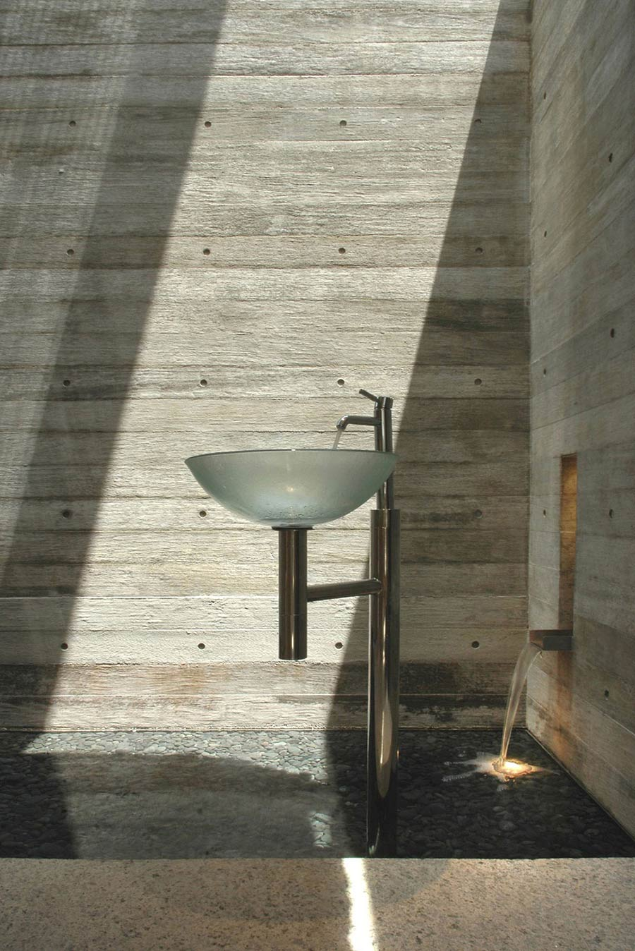 Sink, Water Feature, Sunset Vale House, Singapore by WOW Architects