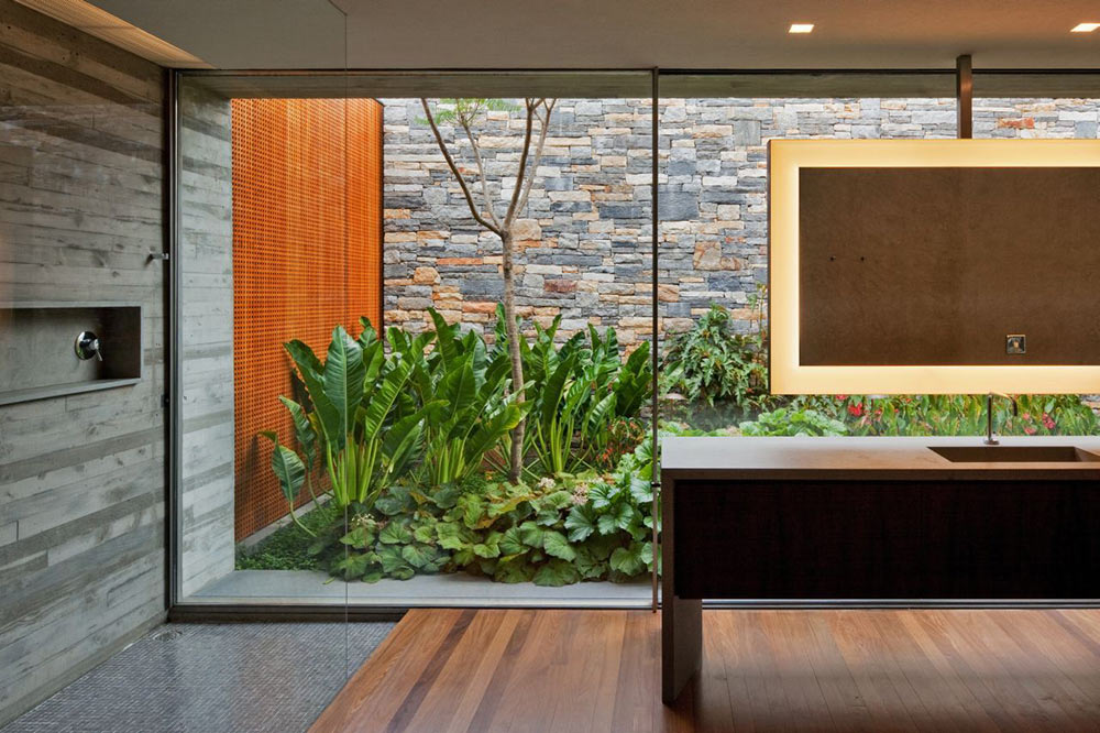 Bathroom, Glass Shower, V4 house, Sao Paulo, Brazil by Studio MK27