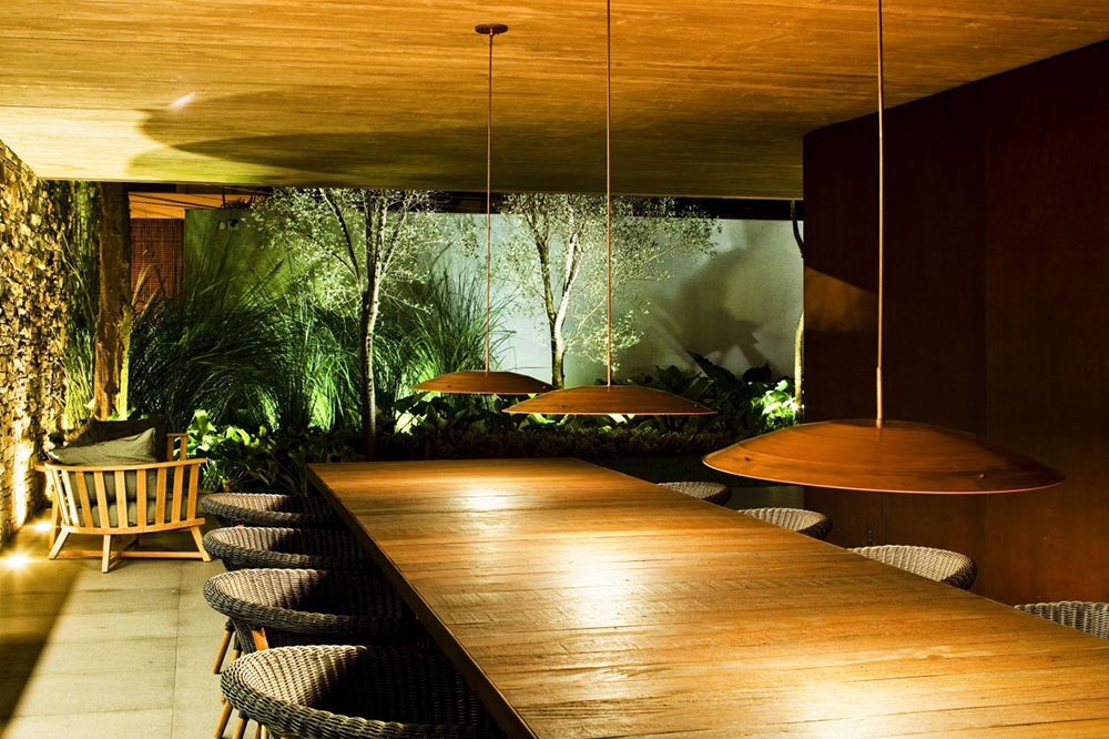 Dining Space, V4 house, Sao Paulo, Brazil by Studio MK27