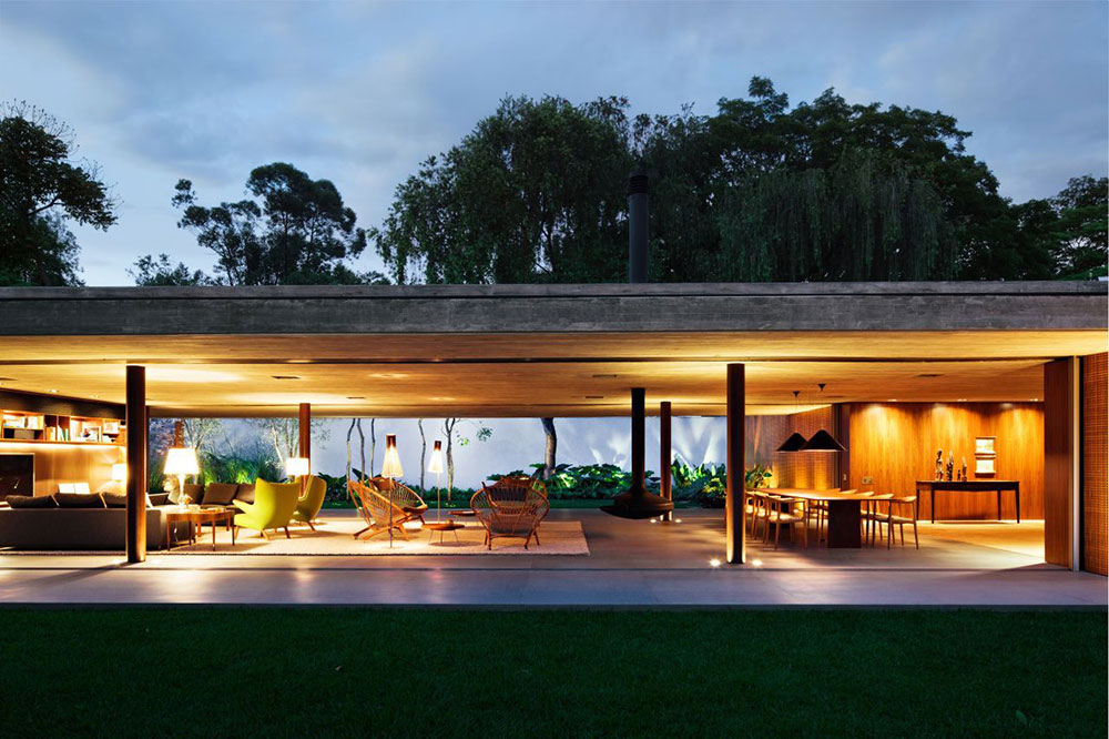 Open Plan Living, V4 house, Sao Paulo, Brazil by Studio MK27