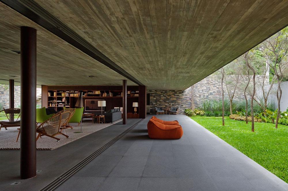 Terrace, V4 house, Sao Paulo, Brazil by Studio MK27