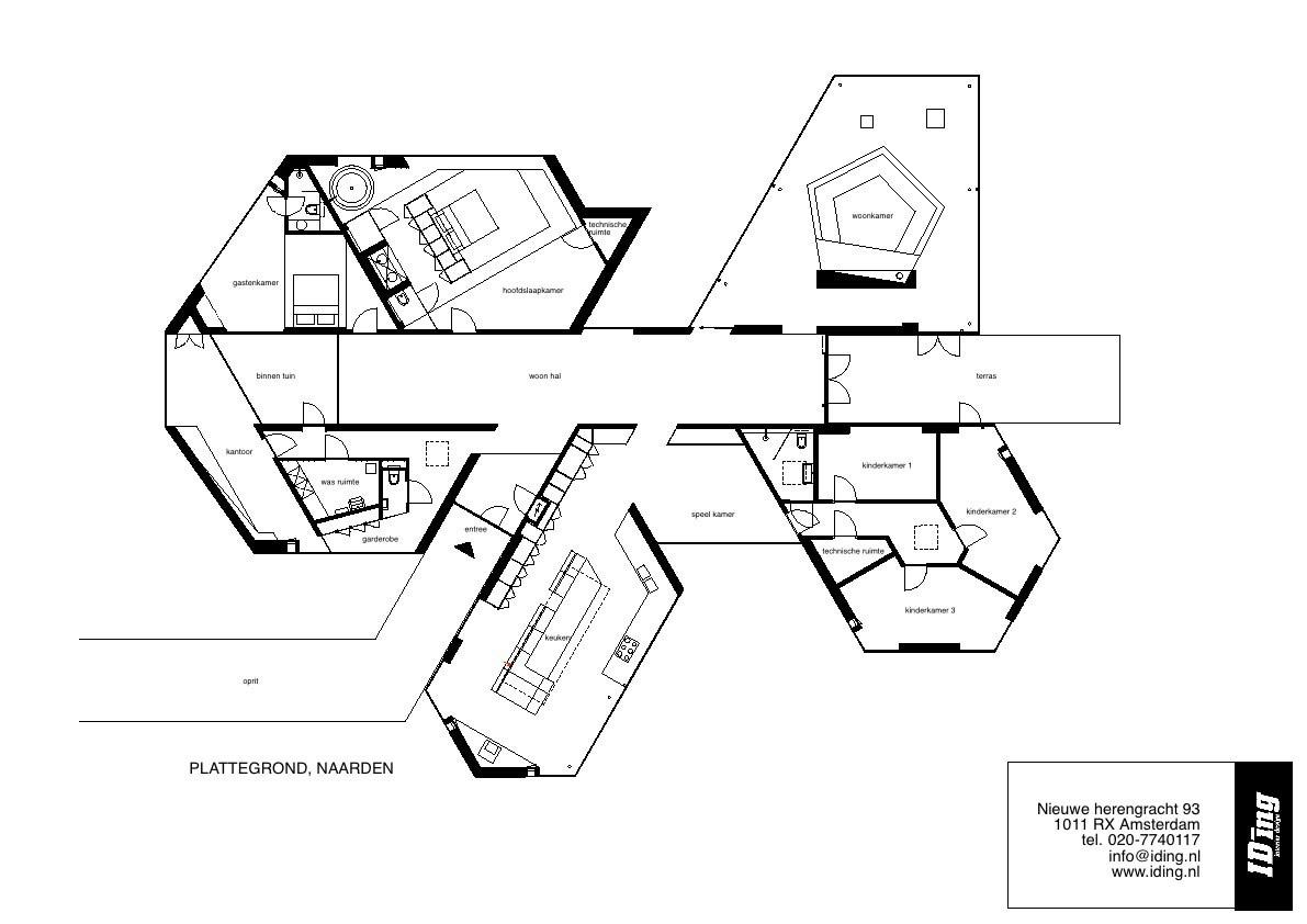 Plan, Villa 4.0, Netherlands by Dick van Gameren Architecten