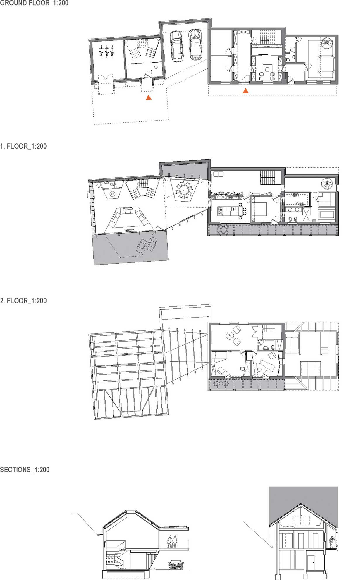 "Plans, Villa ""On the deck into life"", Slovenia by Superform"