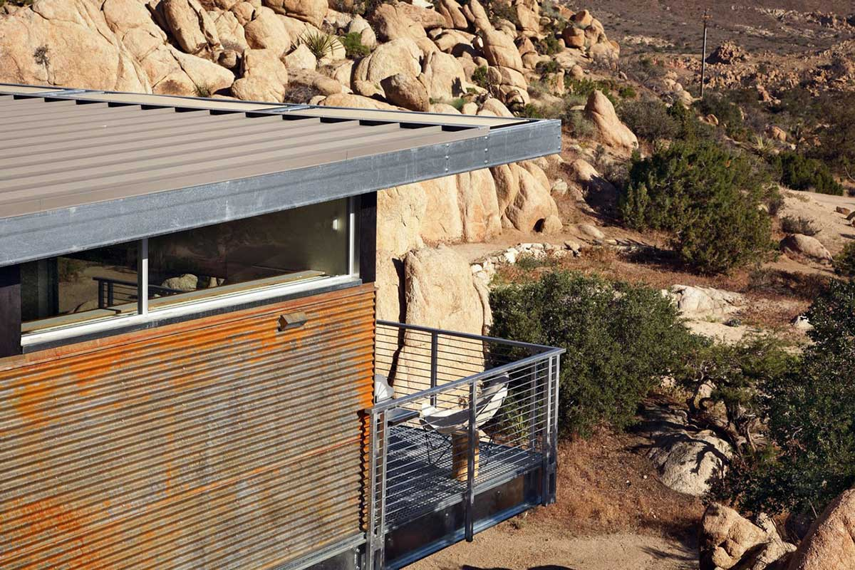 Balcony, Rock Reach House, Mojave Desert, California, USA