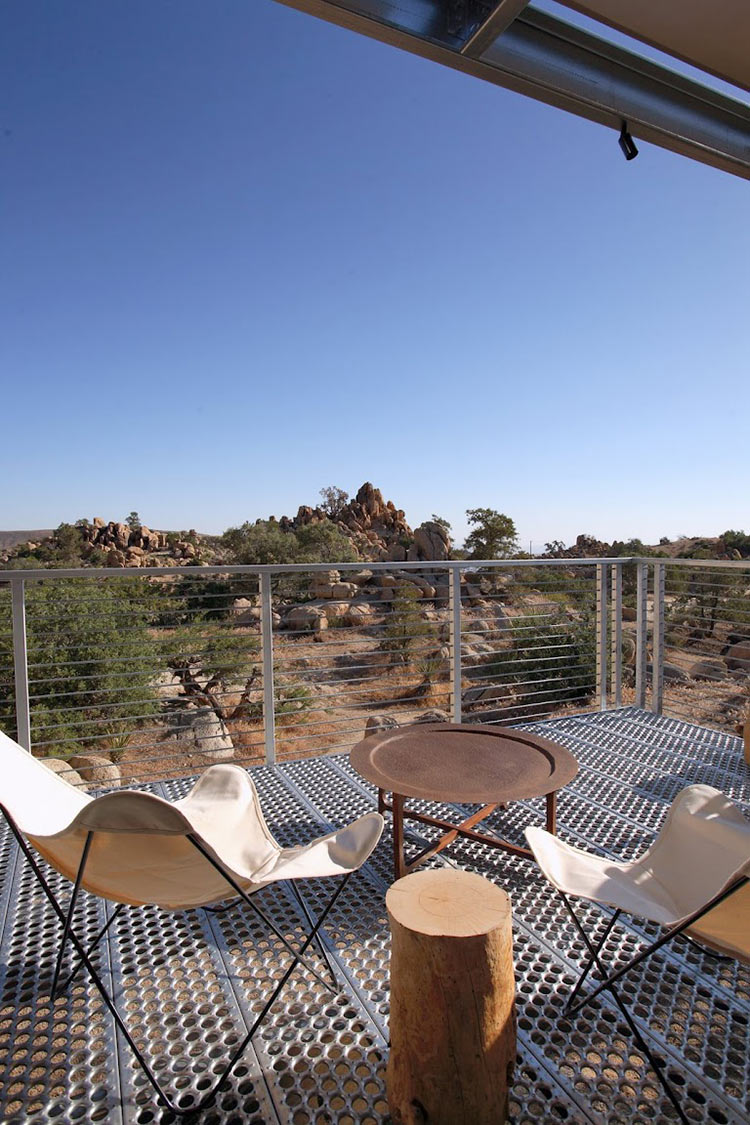 Deck View, Rock Reach House, Mojave Desert, California, USA