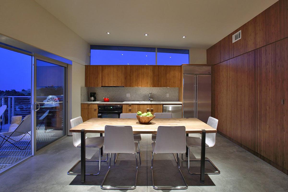 Dining, Kitchen, Rock Reach House, Mojave Desert, California, USA