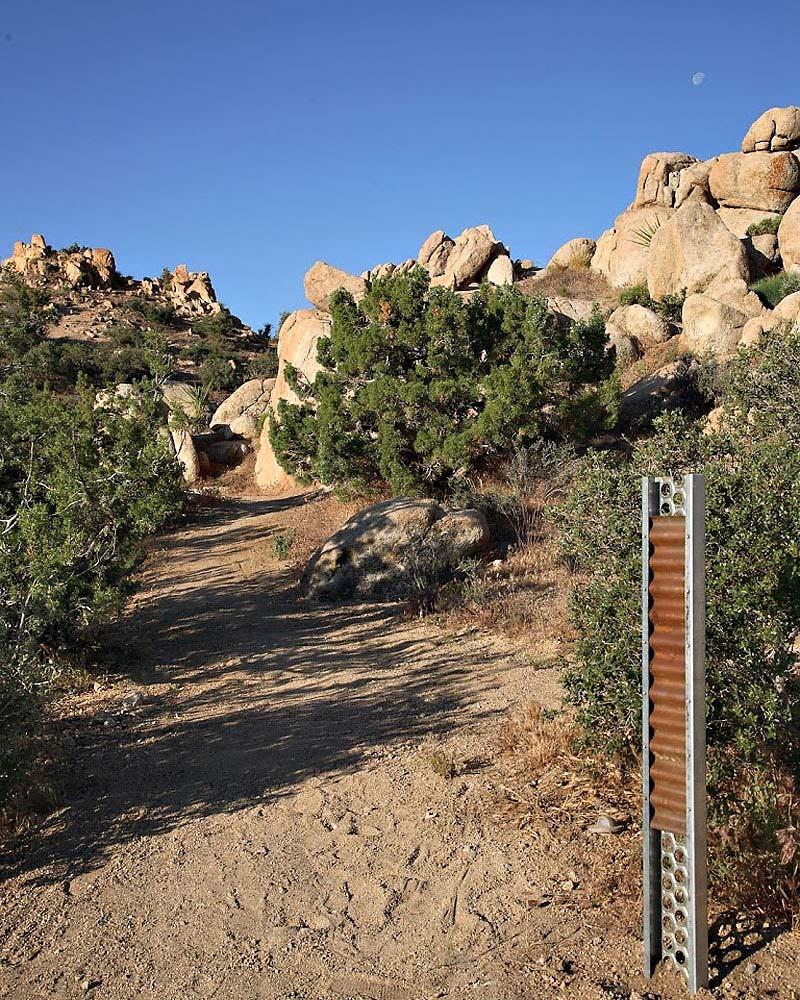 Entrance, Rock Reach House, Mojave Desert, California, USA