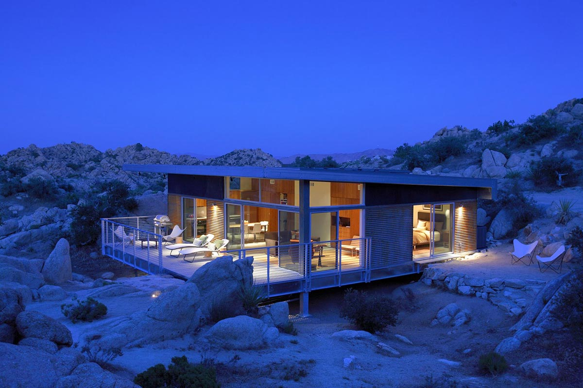 Evening, Rock Reach House, Mojave Desert, California, USA