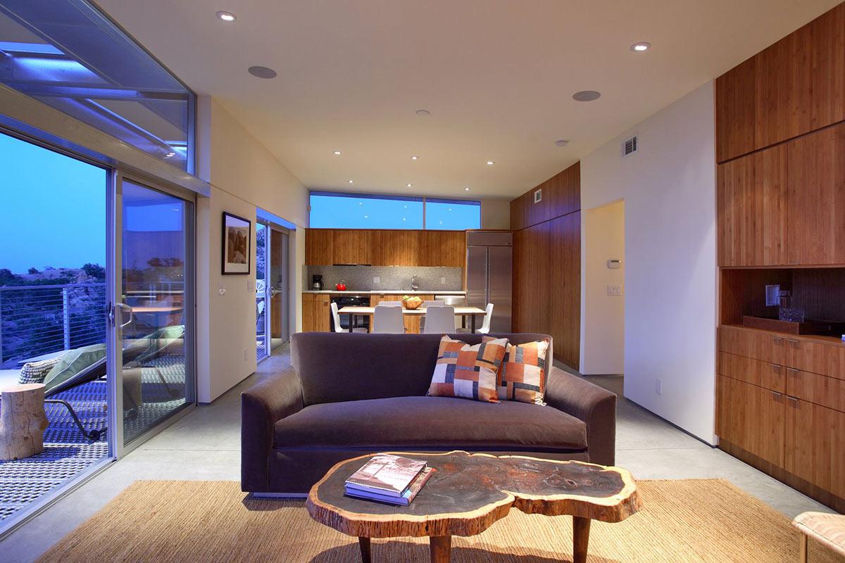 Open Plan, Rock Reach House, Mojave Desert, California, USA