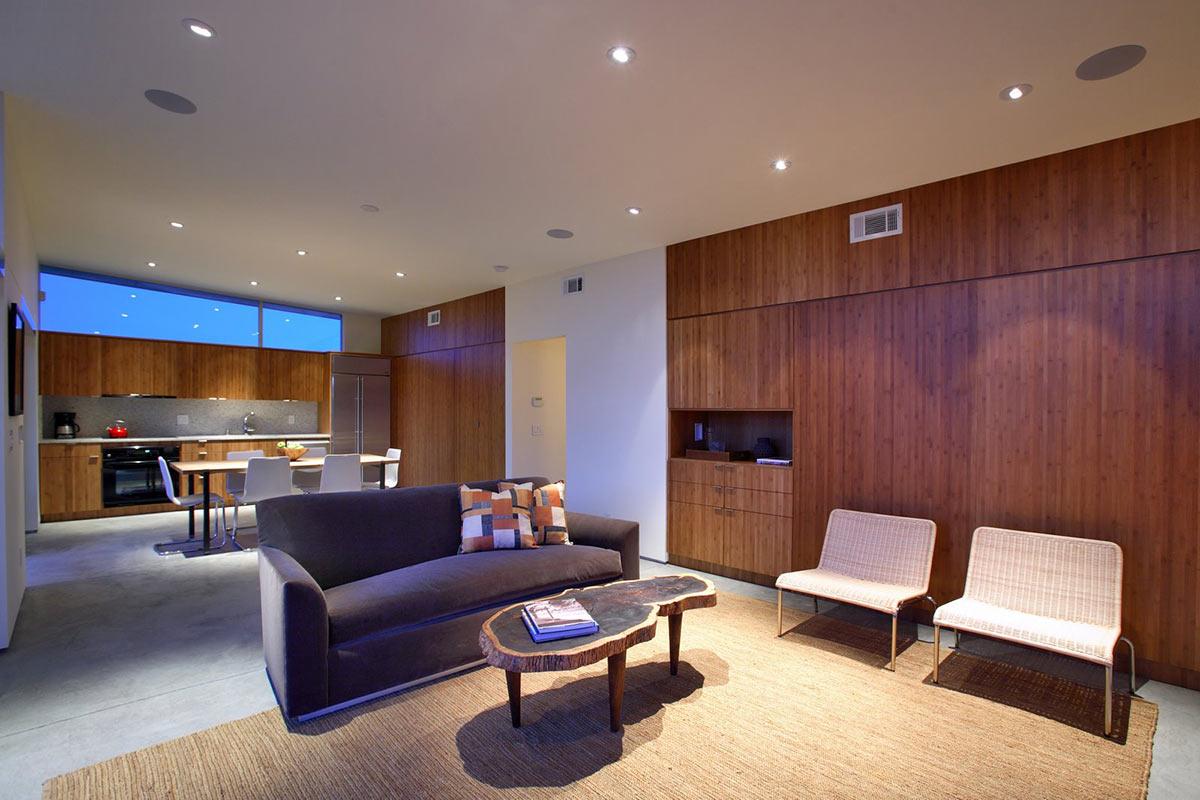 Open Plan Living, Rock Reach House, Mojave Desert, California, USA