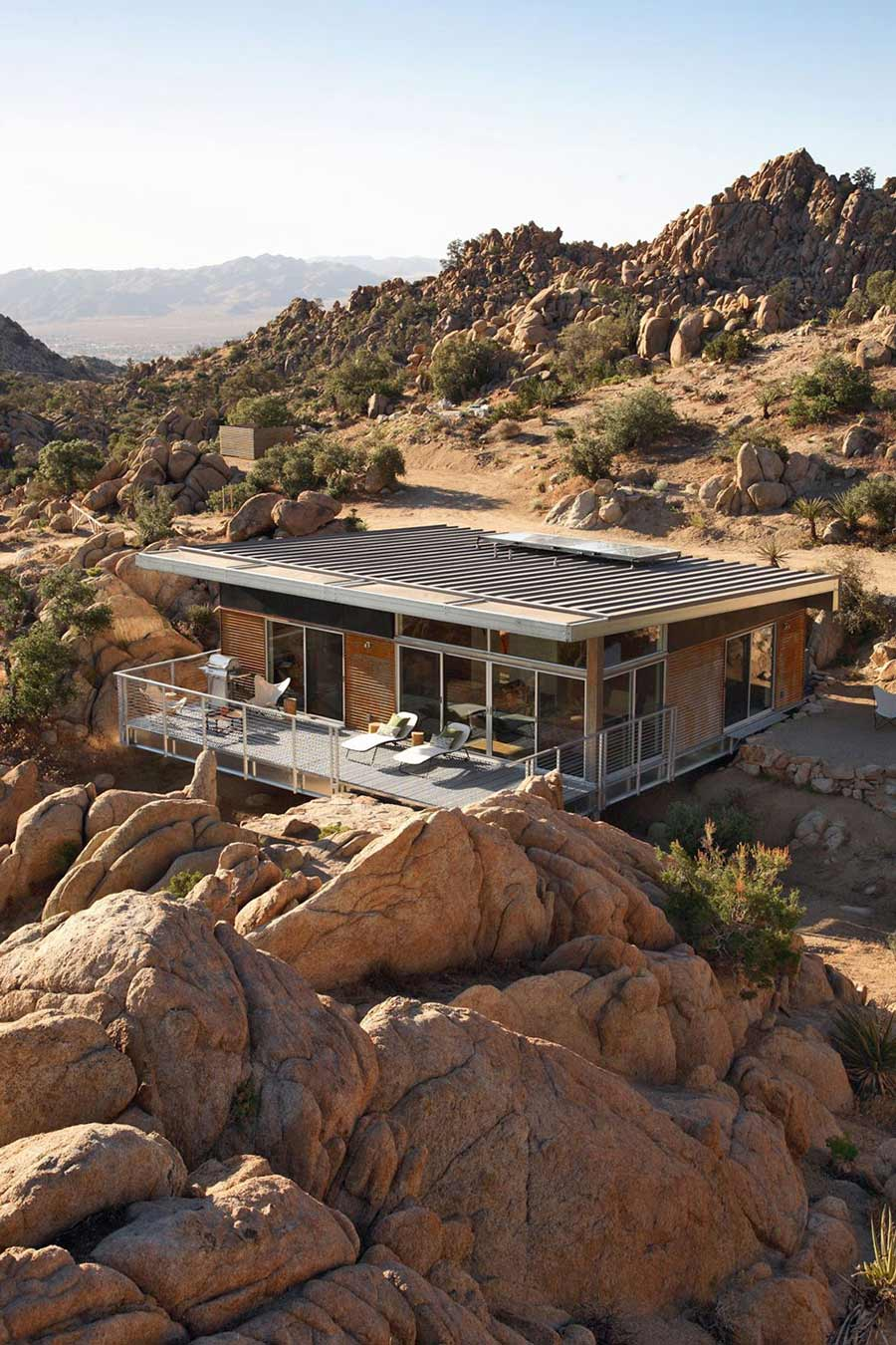 Rock reach house mojave desert for How to build a house in california