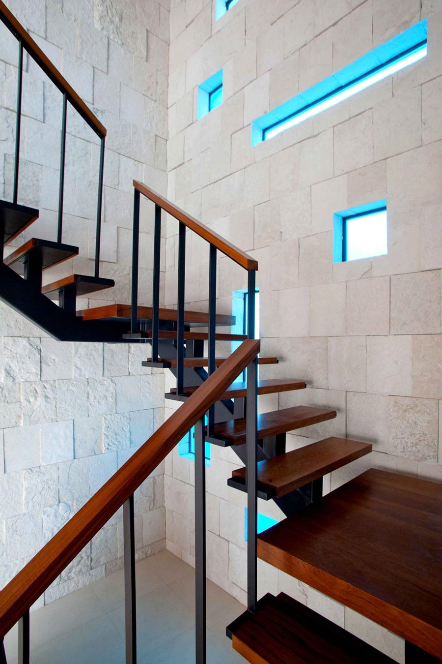 Dark Stairs, Odd Windows, Bonaire House, Netherlands Antilles