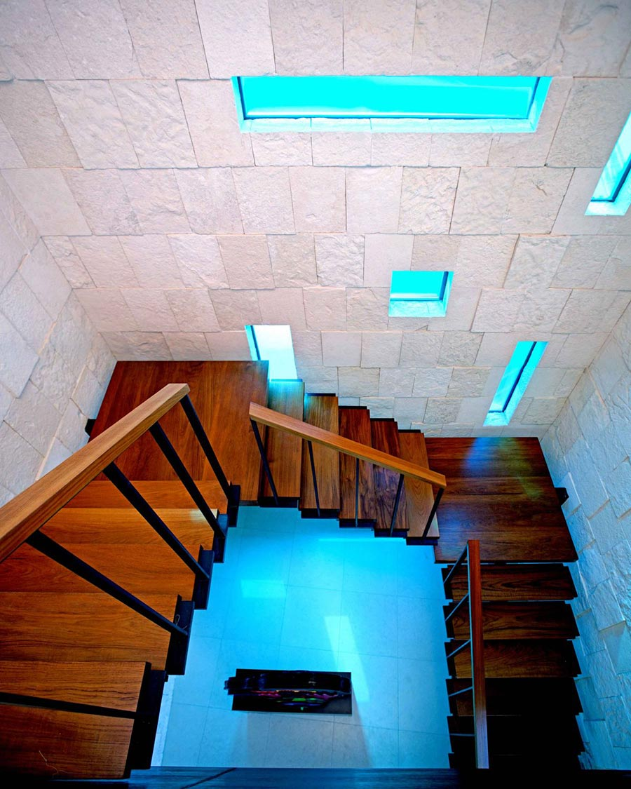 Dark Wood Stairs, Bonaire House, Netherlands Antilles