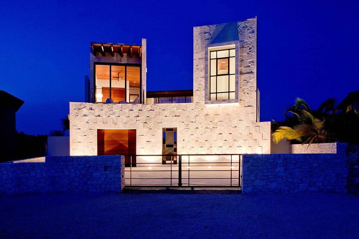 Evening, Lights, Bonaire House, Netherlands Antilles