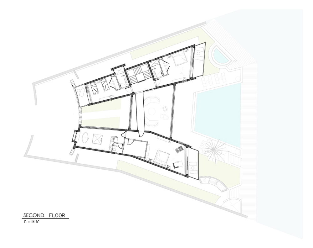 Second Floor Plan, Bonaire House, Netherlands Antilles