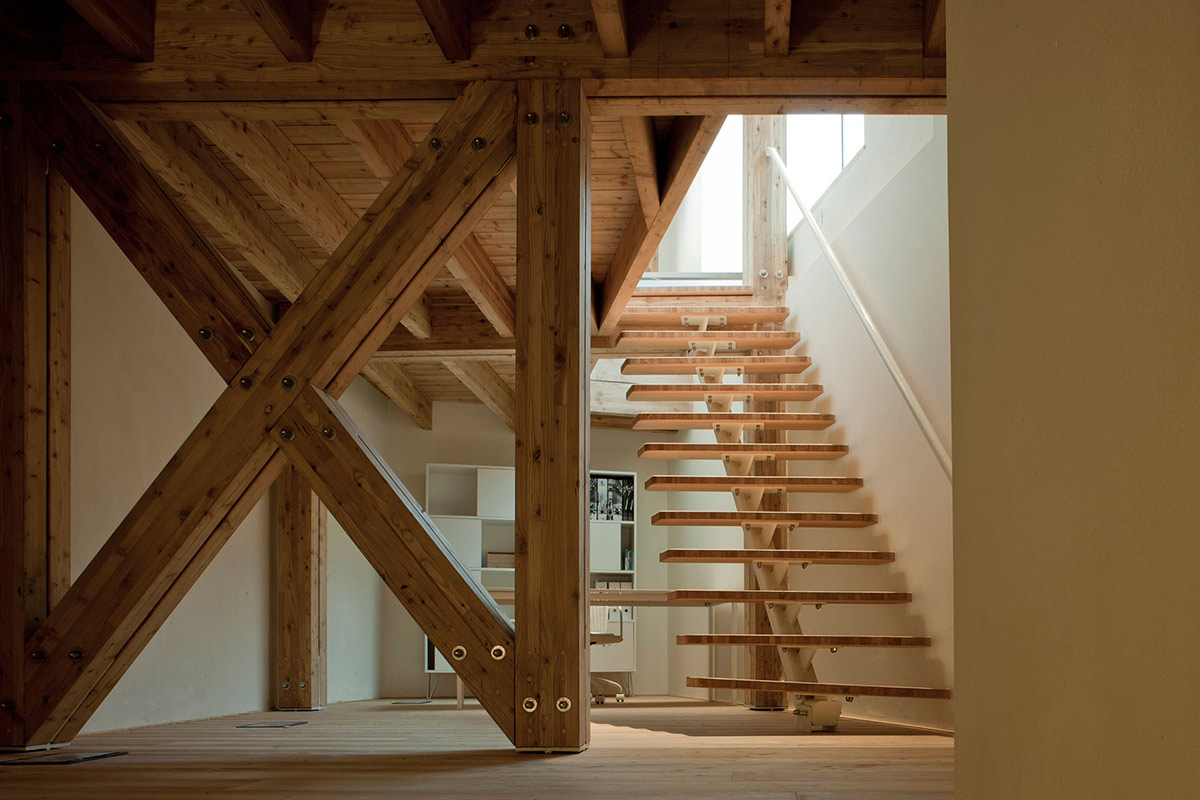 Beams, Stairs, Casa Ceschi, Vicenza, Italy