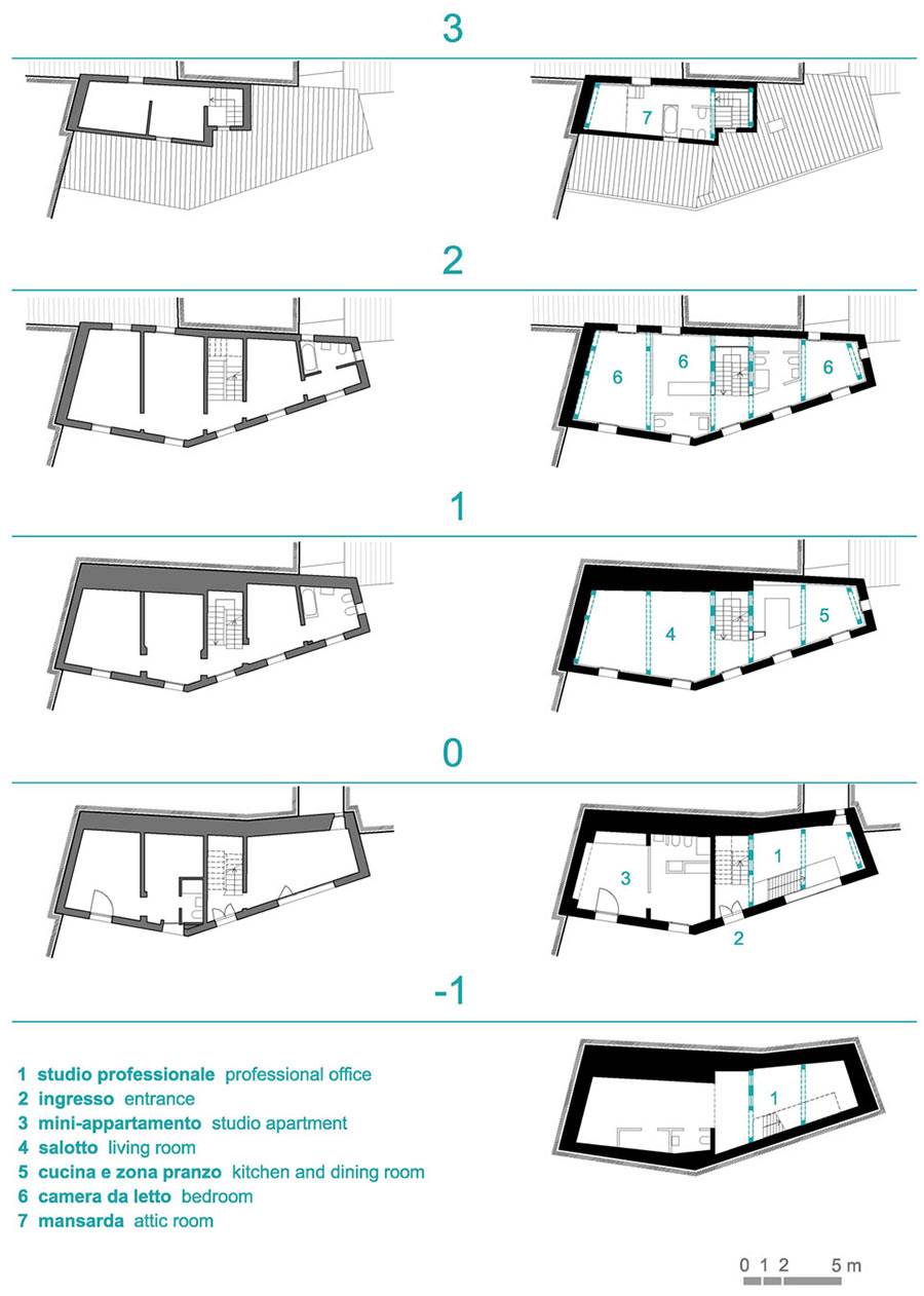 Plan, Casa Ceschi, Vicenza, Italy