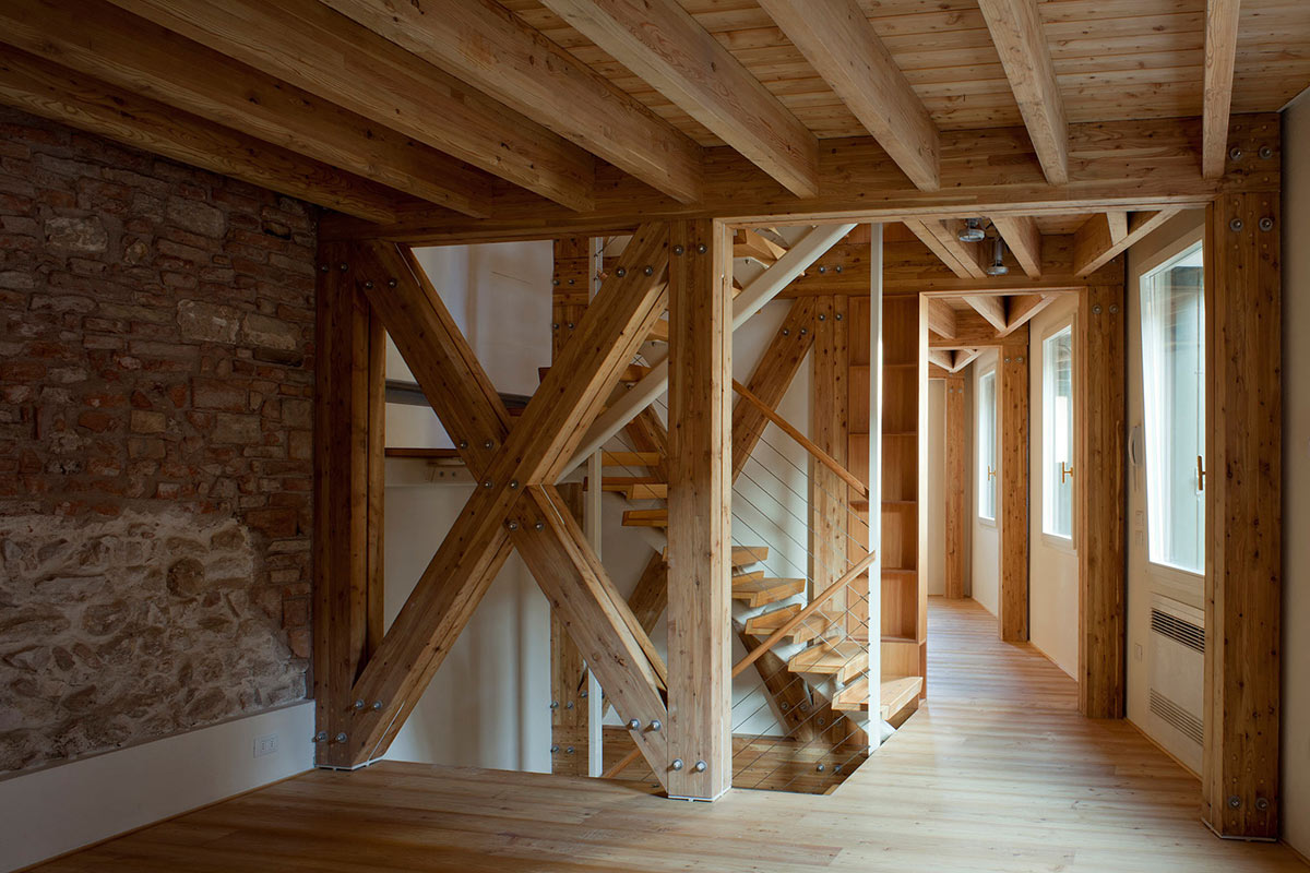 Wooden Structure, Casa Ceschi, Vicenza, Italy