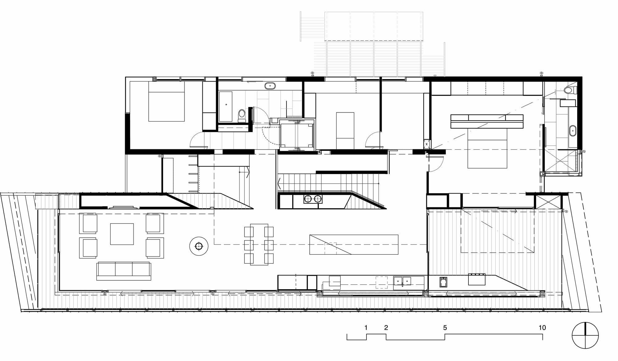 Plan, Coronet Grove Residence by Maddison Architects