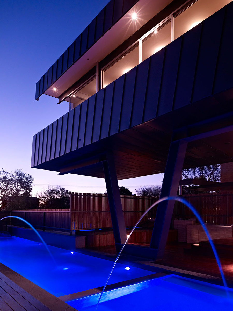 pool lights coronet grove residence by maddison architects
