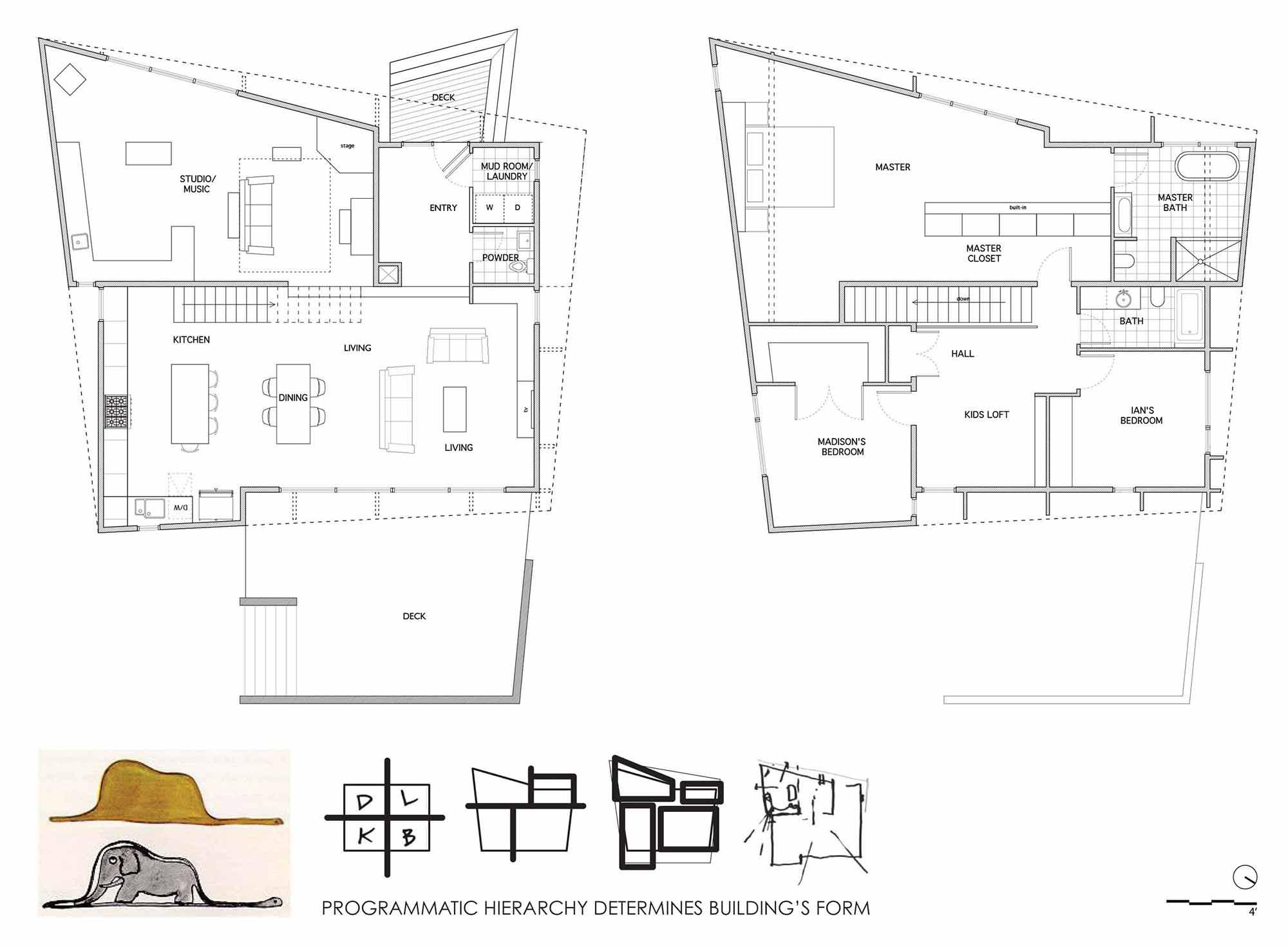 Plan, Crabill Modern, North Carolina by Tonic Design