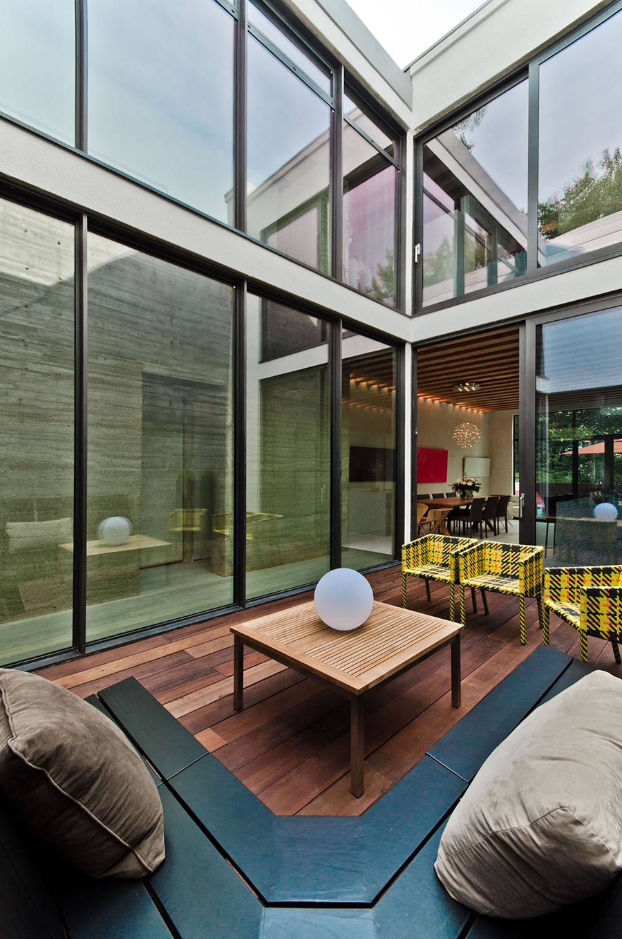 Courtyard, Glass Walls, Ecologia Montreal by Gervais Fortin