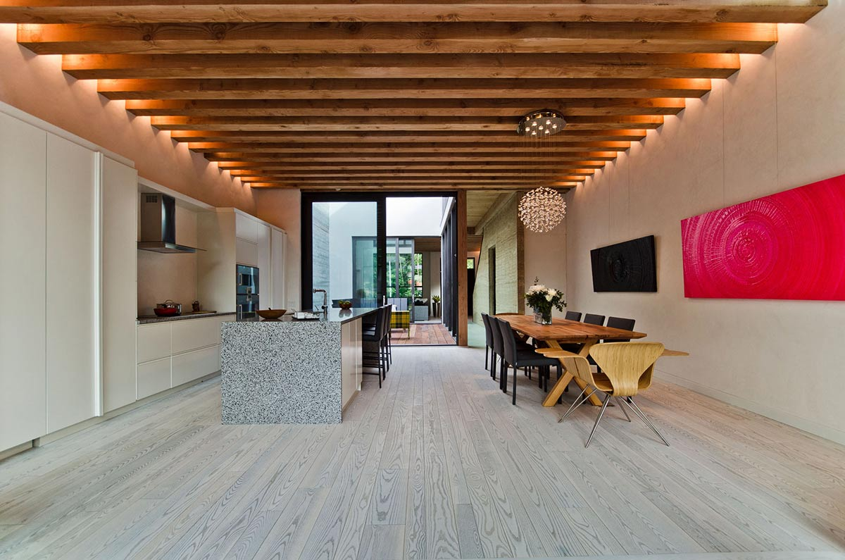 Kitchen, Dining Space, Open Plan, Ecologia Montreal by Gervais Fortin