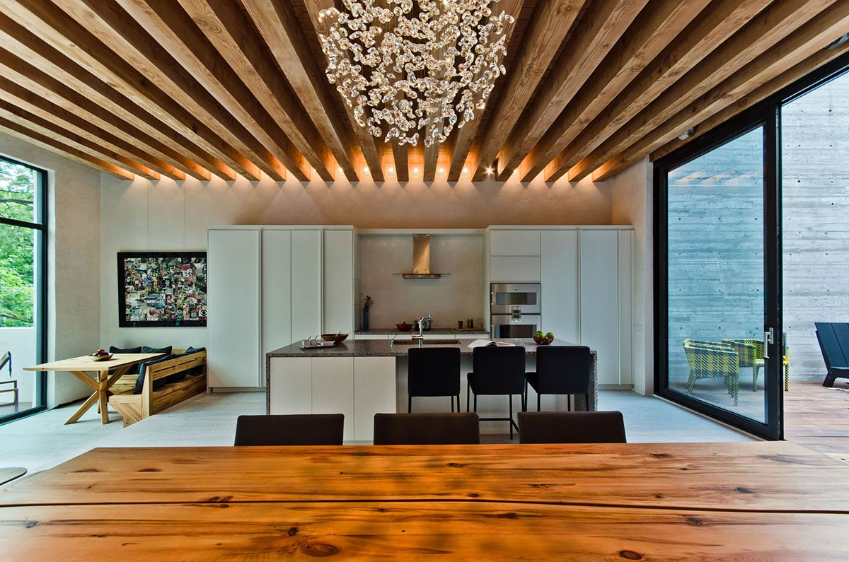 Kitchen, Lighting, Beams, Ecologia Montreal by Gervais Fortin