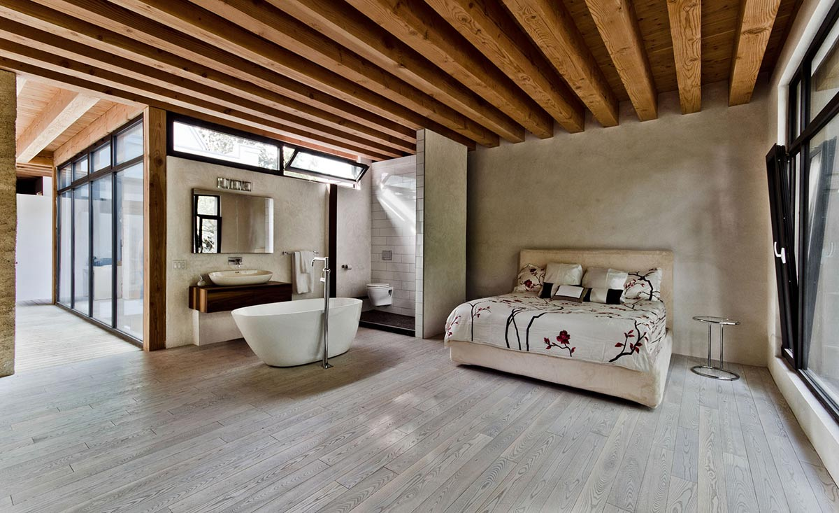 Open Bedroom, Bathroom, Ecologia Montreal by Gervais Fortin
