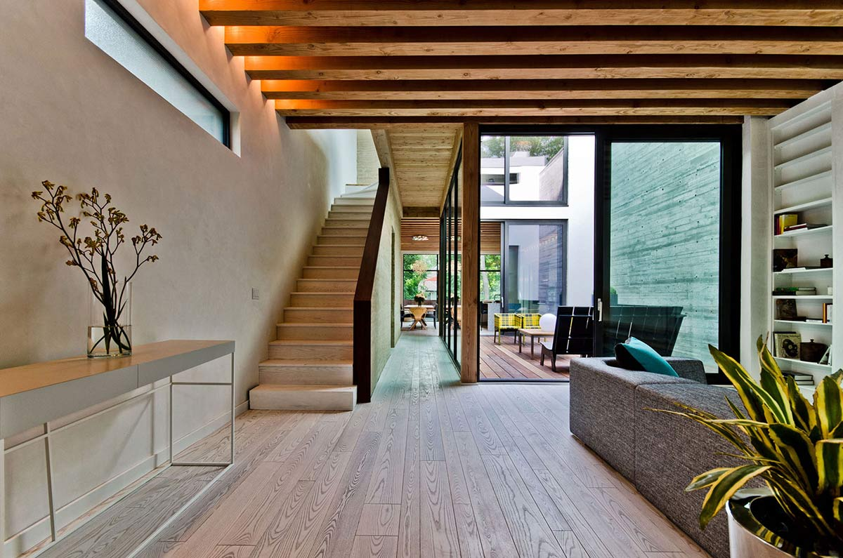 Stairs, Courtyard, Living Space, Ecologia Montreal by Gervais Fortin
