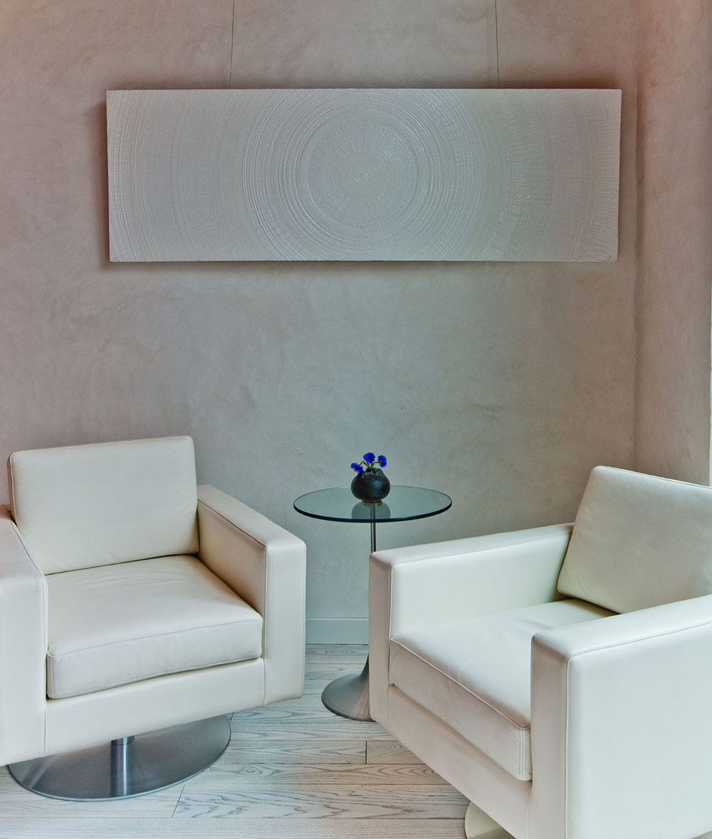White Leather Chairs, Ecologia Montreal by Gervais Fortin