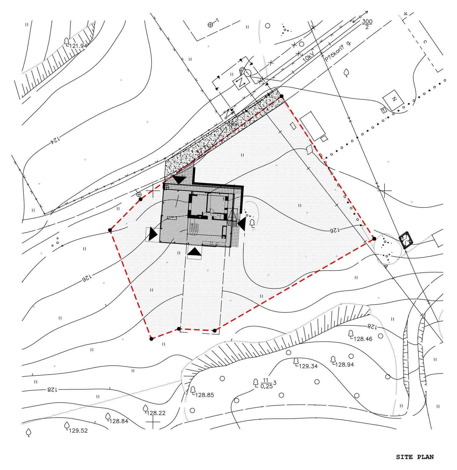 Site Plan, Glass House, Vilnius, Lithuania