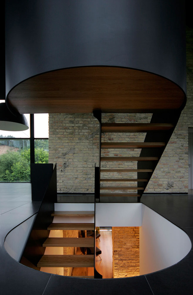 Stairs, Glass House, Vilnius, Lithuania