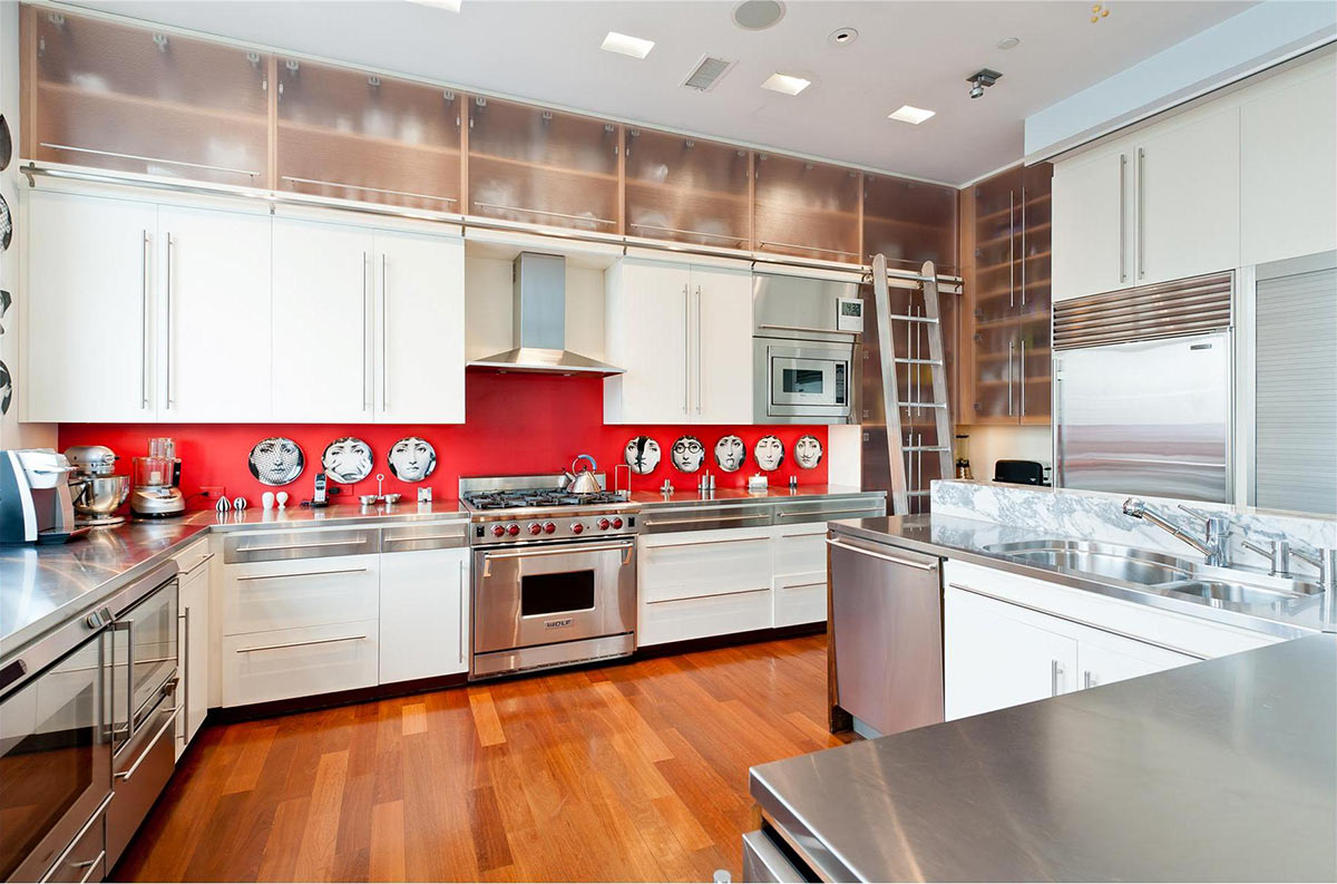 kitchen brooklyn penthouse with panoramic views