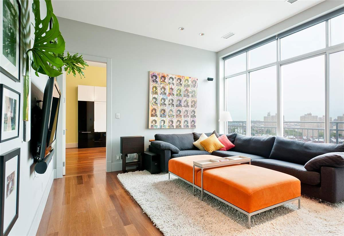Living Space, Brooklyn Penthouse with Panoramic Views