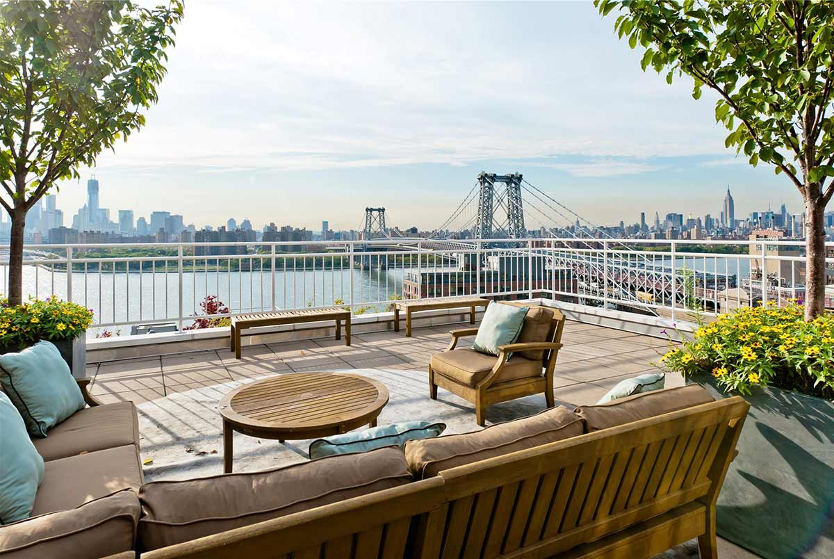 Roof Terrace, Brooklyn Penthouse with Panoramic Views
