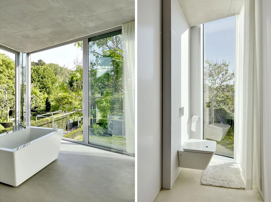 Bathroom, H House, Netherlands by Wiel Arets Architects