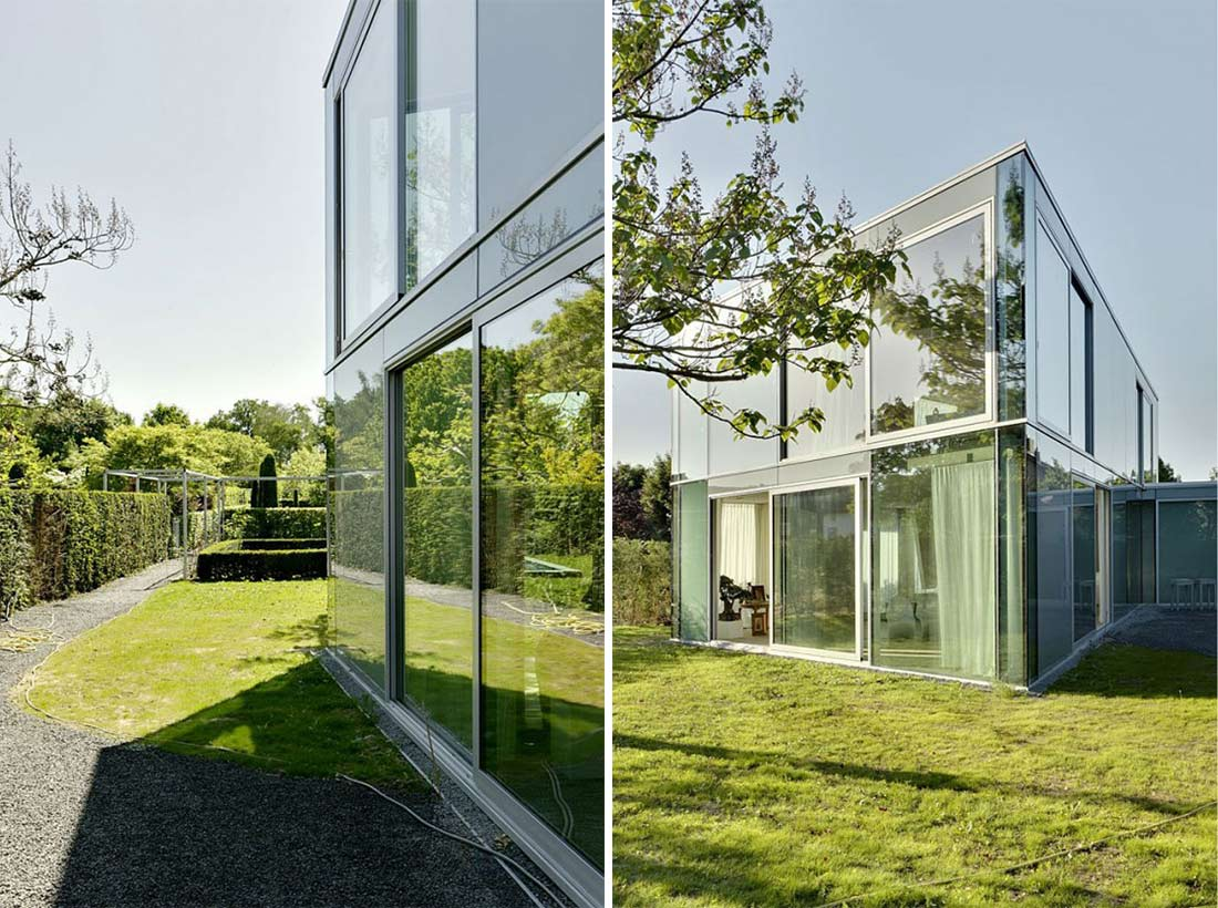 Garden, H House, Netherlands by Wiel Arets Architects