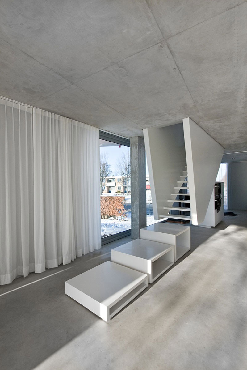 Stairs, H House, Netherlands by Wiel Arets Architects