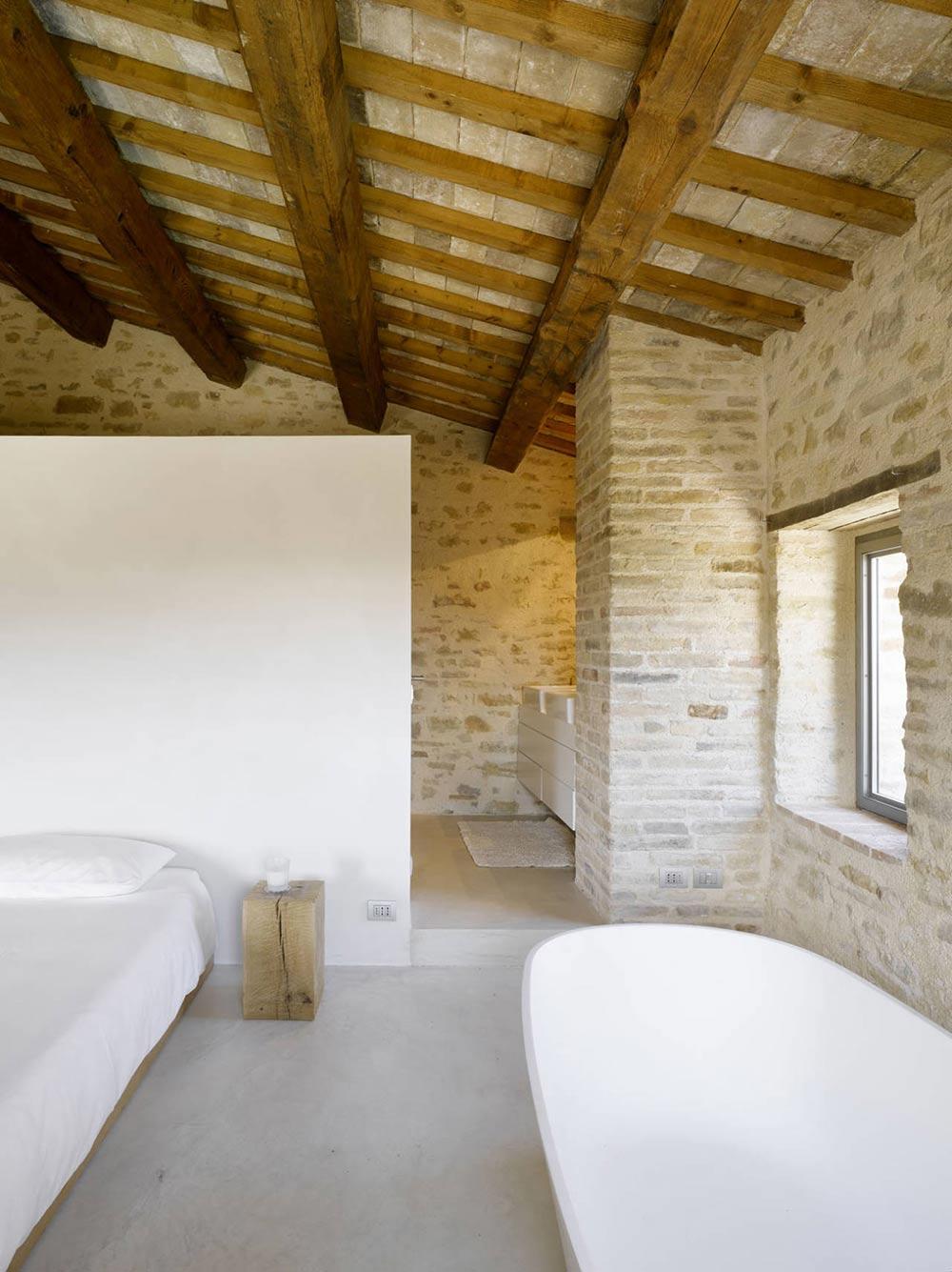 Bedroom, Bathroom, Home Renovation In Treia, Italy by Wespi de Meuron