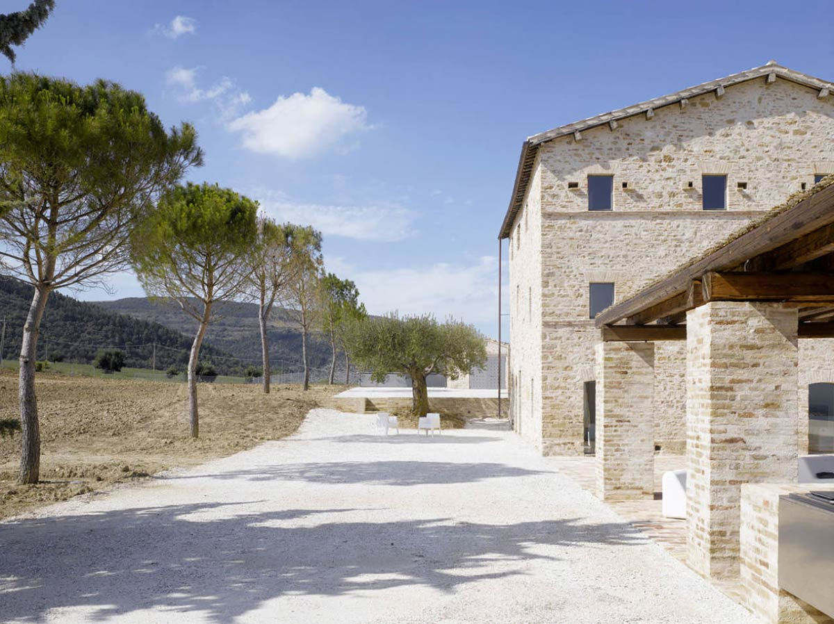 Grounds, Home Renovation In Treia, Italy by Wespi de Meuron