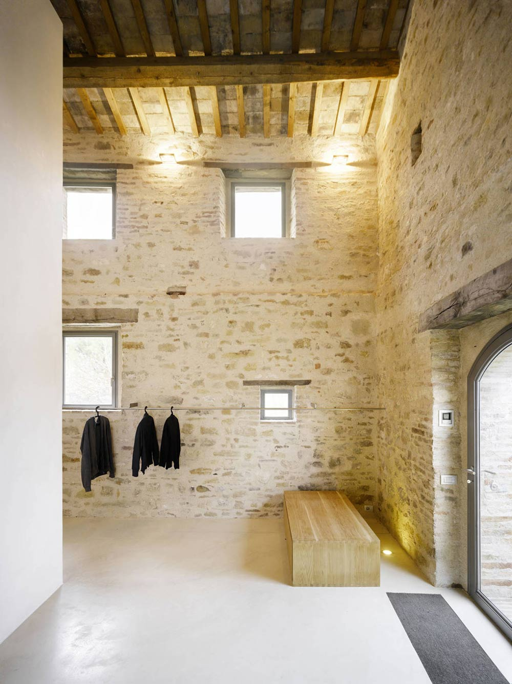 Lighting, Beams, Home Renovation In Treia, Italy by Wespi de Meuron