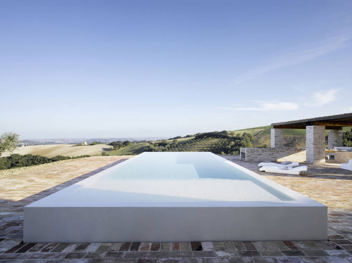 Outdoor Swimming Pool, Views, Home Renovation In Treia, Italy by Wespi de Meuron