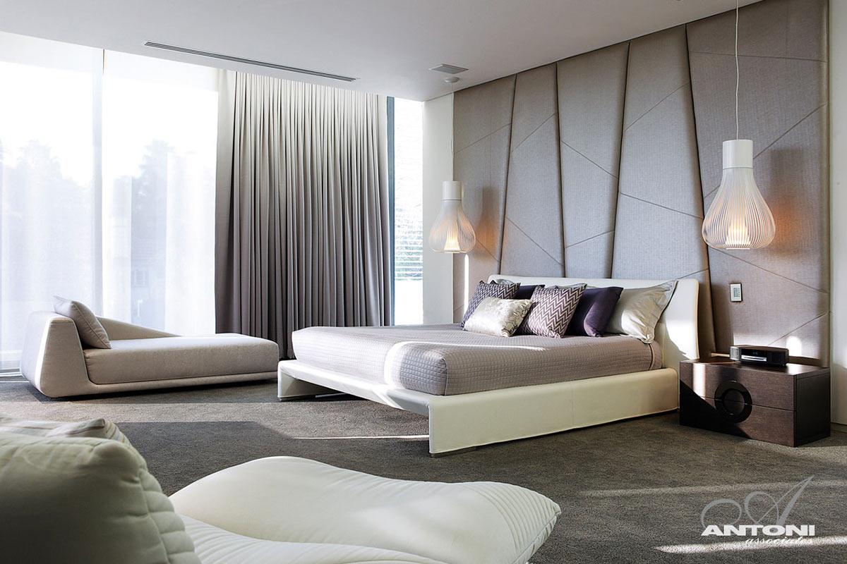 Bedroom, White Bed, Lighting, Houghton Residence, Johannesburg, South Africa