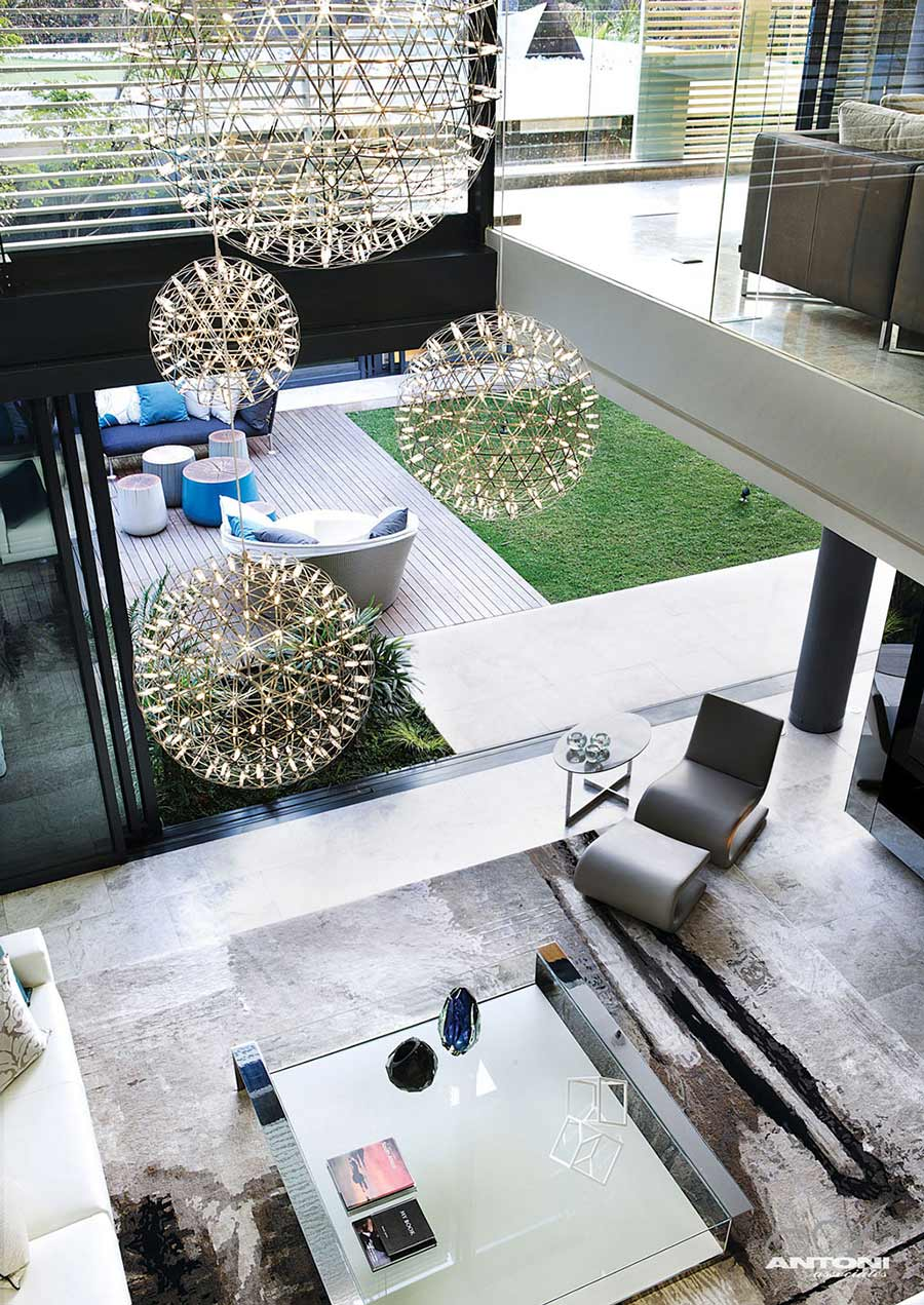 Contemporary Lighting, Houghton Residence, Johannesburg, South Africa