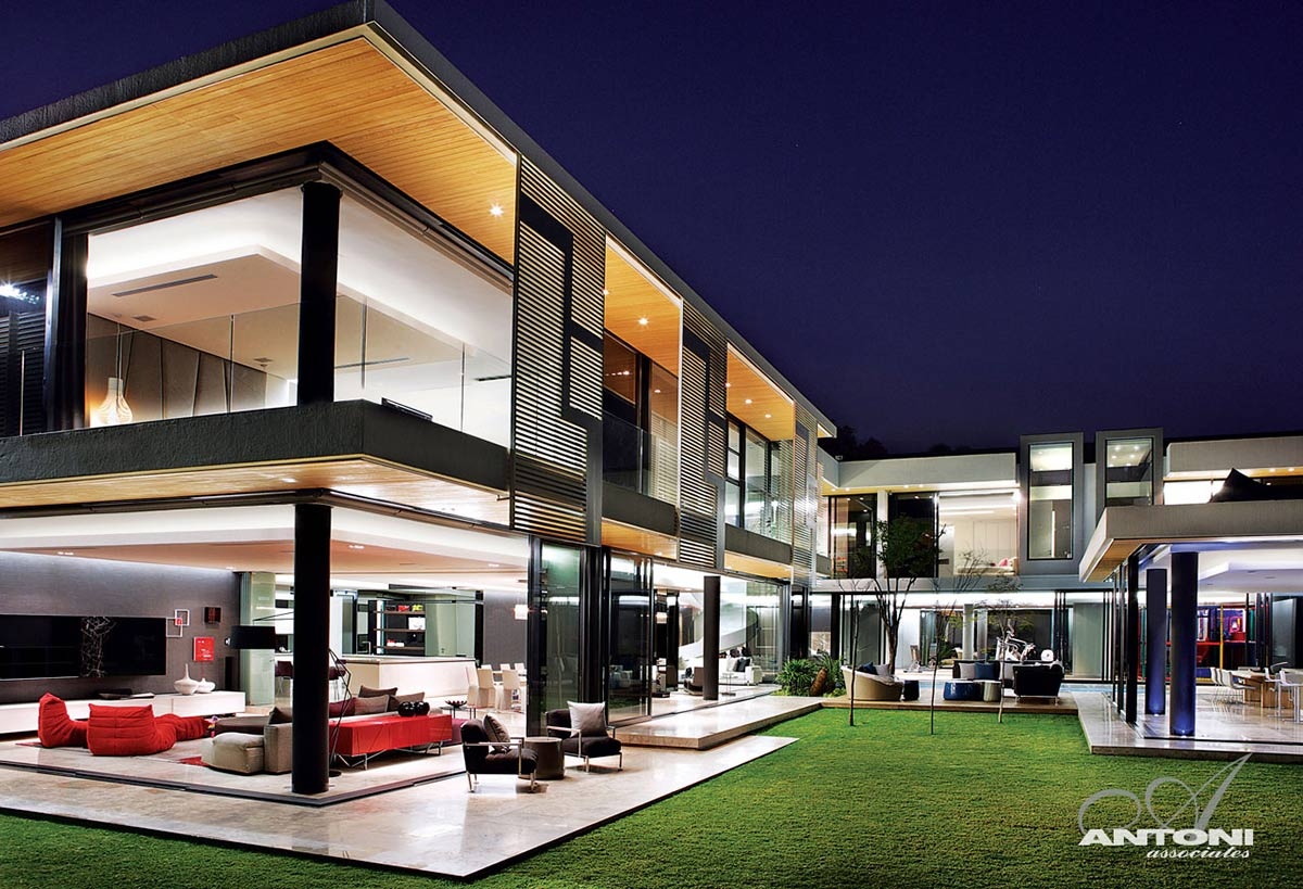 Evening Lights, Terrace, Houghton Residence, Johannesburg, South Africa