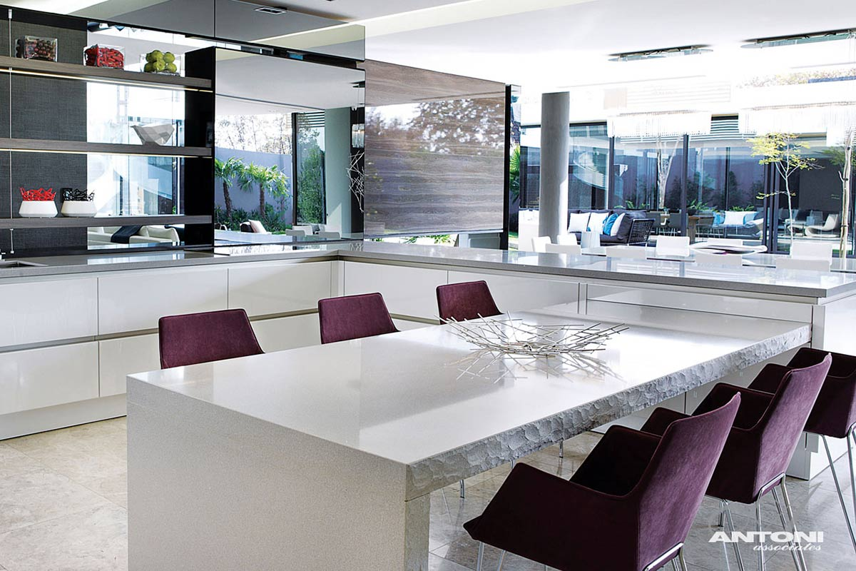 Kitchen, Breakfast Table, Houghton Residence, Johannesburg, South Africa