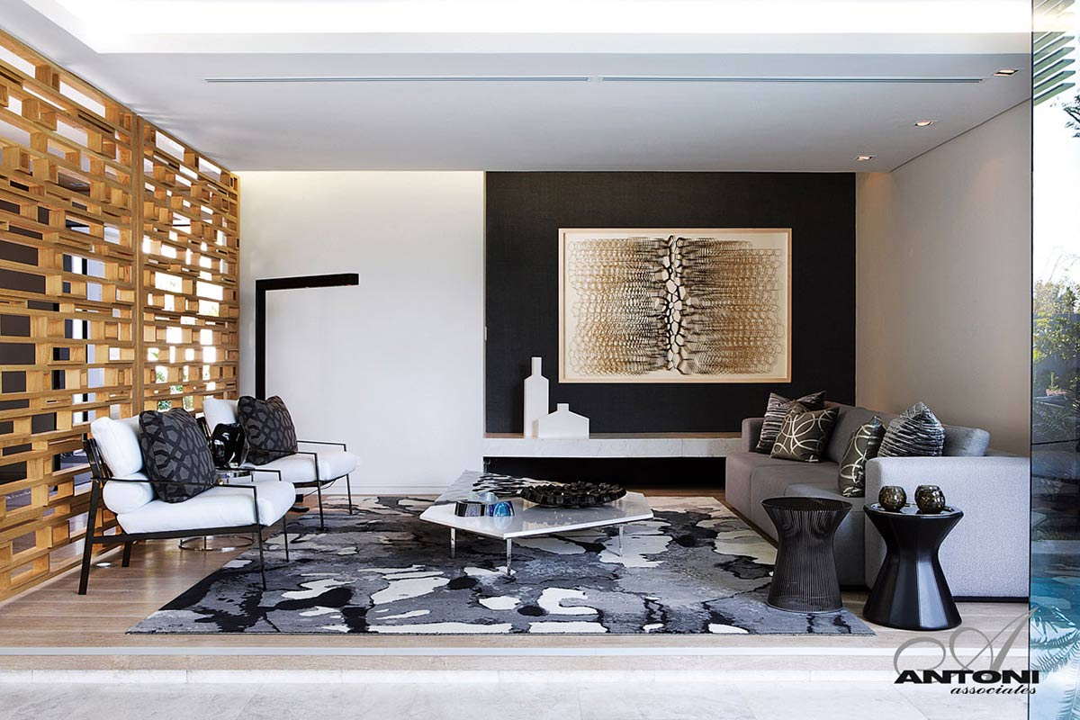 Living Space, Rug, Art, Houghton Residence, Johannesburg, South Africa