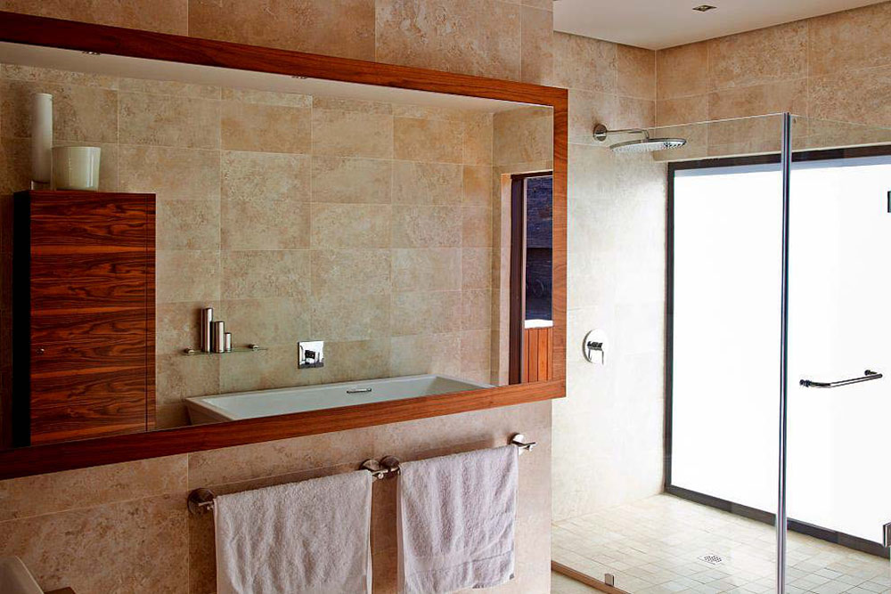 Bathroom, Marble, Large Mirror, Glass Shower, House Aboobaker, Limpopo, South Africa
